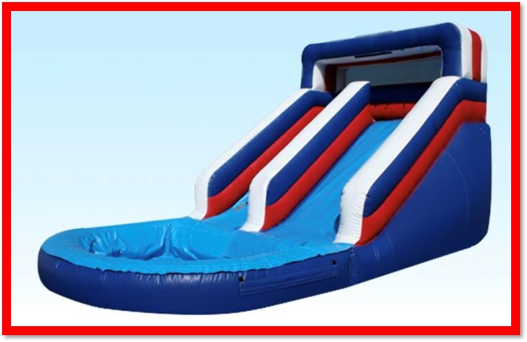 12 FT PATRIOTIC WATER SLIDE